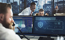 Cybersecurity professionals prevent cyber attacks.