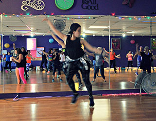 Gina Gates, MSW '20 practices self-care through teaching dance and exercise classes.