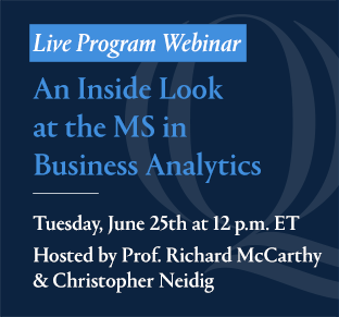 An Inside Look at the MS in Business Analytics