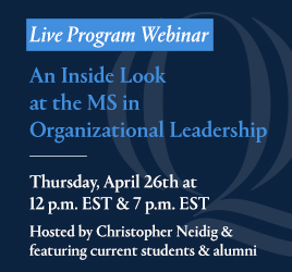 MS in Organizational Leadership Online Webinar