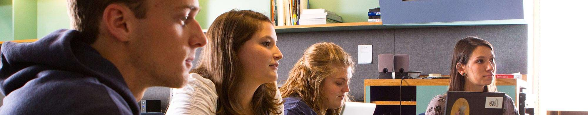 Quinnipiac University students in a classroom setting